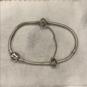 PANDORA bracelet & safety chain